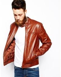 Asos Brand Faux Leather Biker Jacket