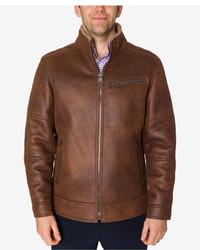 Buffalo David Bitton Brown Faux Leather Jacket