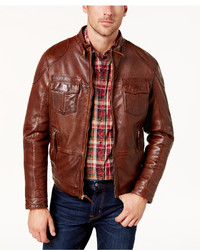 Bs By Blake Shelton Leather Bomber Jacket