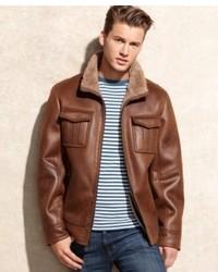 Buffalo David Bitton Faux Leather Faux Shearling Lined Jacket