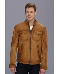 Stetson Burnish Leather Jacket With Inset Pkts