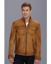 Stetson Burnish Leather Jacket With Inset Pkts