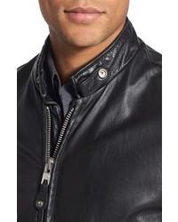 Schott NYC Cafe Racer Leather Jacket