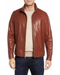 Peter Millar Classic Leather Bomber Jacket