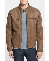 Cole Haan Lambskin Leather Moto Jacket Large