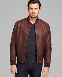 Cole Haan Varsity Leather Jacket