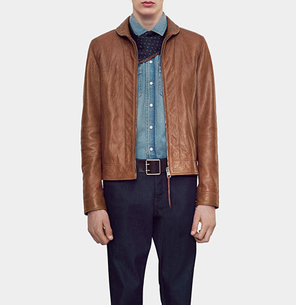 Deerskin Leather Jacket. Brown Leather Bomber Jacket by Gucci 87fb44fb5167