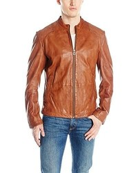 Hugo Boss Boss Orange Jips7 Gart Dyed Sheep Leather Jacket