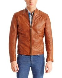 Hugo Boss Jips Leather Jacket 38r Brown