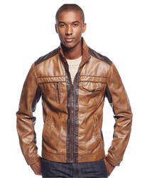 INC International Concepts Jones Two Tone Faux Leather Jacket Only At Macys