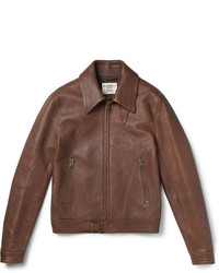 Kent & Curwen Kapore Full Grain Leather Bomber Jacket