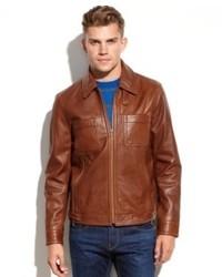 Kenneth Cole Reaction Coat Washed Leather Jacket