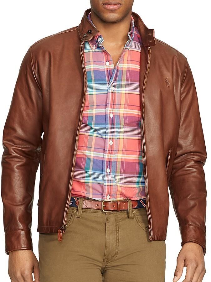 d6c3a662695 ... Polo Ralph Lauren Leather Barracuda Jacket ...