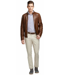 Brooks Brothers Leather Blouson