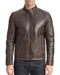 Strellson Leather Bomber Jacket