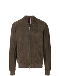 Low Brand Leather Bomber Jacket