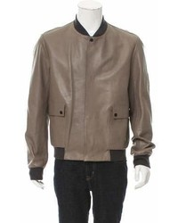 Balenciaga Leather Bomber Jacket W Tags