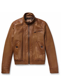 Prada Leather Caf Racer Jacket