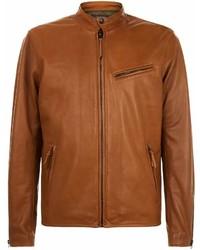 Ralph Lauren Leather Caf Racer Jacket