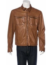 Giorgio Armani Leather Dress Jacket