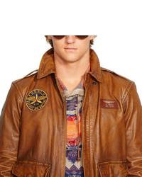 4acf6908b Polo Ralph Lauren Leather Farrington A2 Jacket, $1,295 | Ralph ...