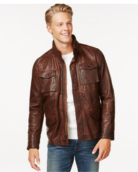 Tommy Hilfiger Leather Four Pocket Field Jacket
