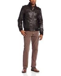 Levi's Leather Two Pocket Bomber Jacket