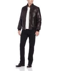 Levi's Washed Leather Bomber Jacket