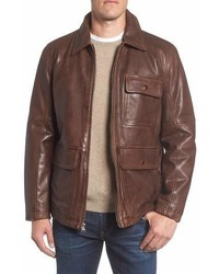 Andrew Marc Marc New York Bakers Calfskin Leather Jacket