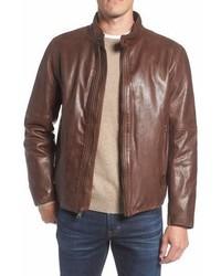 Andrew Marc Marc New York Calfskin Leather Moto Jacket