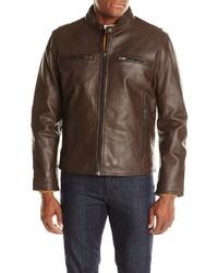 Andrew Marc Marc New York Lamar 26 Leather Moto Jacket
