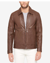 Andrew Marc Marc New York Perforated Leather Bomber Jacket