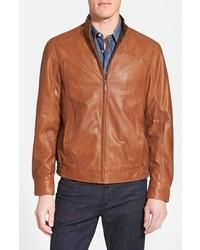 Missani Le Collezioni Leather Bomber Jacket