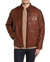 Missani Le Collezioni Reversible Washed Leather Jacket