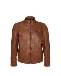 Mustang Kent Leather Jacket Brown