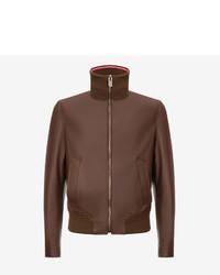 Bally Nappa Leather Bomber Jacket