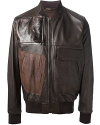 Maison Martin Margiela Patchwork Leather Bomber Jacket