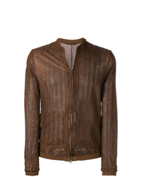 Salvatore Santoro Perforated Bomber Jacket