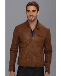 Lucky Brand Salt Flats Leather Moto Jacket Apparel