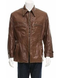 Armani Collezioni Short Leather Jacket