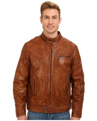 Stetson Smooth Leather Jacket W Zipper Cuffs