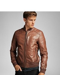 Belstaff Stockdale Jacket In Tumbled Lightweight Lambskin Leather