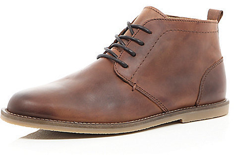River Island Brown Leather Chukka Boots | Where to buy & how to wear