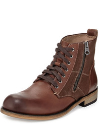 Andrew Marc Forest Leather Boot Deep Hickorydeep Natural