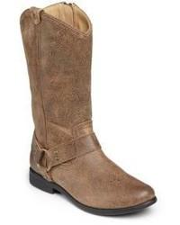 Frye Kids Wyatt Leather Harness Boots