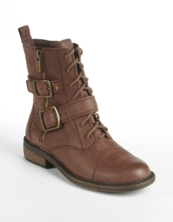 lucky brand nolan leather moto lace up boots where to