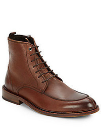 Saks Fifth Avenue RED First Class Leather Ankle Boots