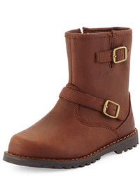 UGG Harwell Leather Buckle Trim Boot Stout Toddler