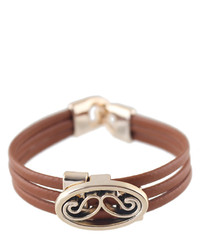 Brown Pu Leather Braided Bracelet
