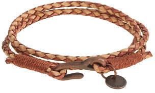 75 J Crew Ca Cotm Antiqued Leather Triple Wrap Bracelet